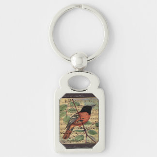 Vintage Oriole On  Music Keychain