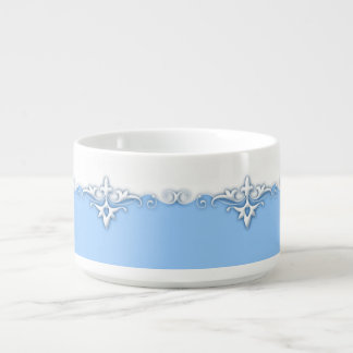 Vintage ornament border light blue bowl