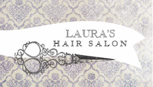 Vintage hairdresser business cards business card printing zazzle ca vintage ornate scissors hair salon business cards reheart Image collections