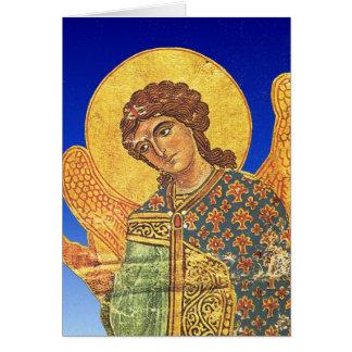 Vintage Orthodox ikon, angel Gabriel Card