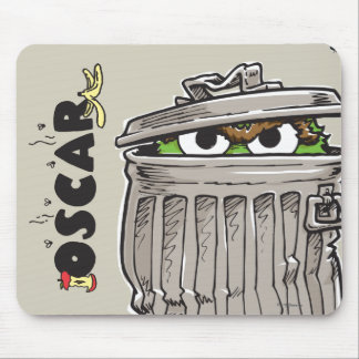 Vintage Oscar in Trash Can Mouse Pad