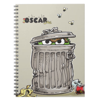 Vintage Oscar in Trash Can Notebook
