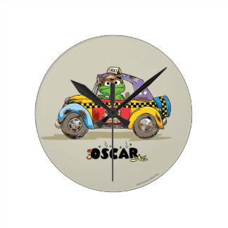 Vintage Oscar's Taxi Service Round Clock