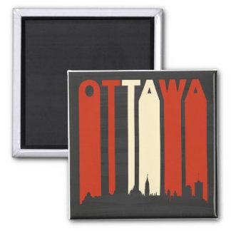 Vintage Ottawa Cityscape Magnet