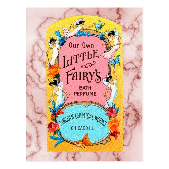 Vintage Our Own Little Fairy's Bath Perfume Postcard