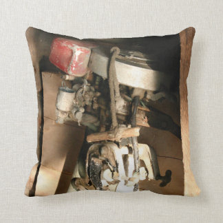 Vintage Outboard Motor Decorative Pillow