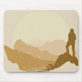 Vintage Outdoor Mountain Hiking Mousepad