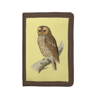 Vintage Owl Nylon Wallet