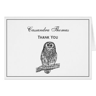 Vintage Owl on Branch #1 Card