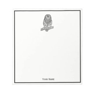 Vintage Owl on Branch #1 Notepad