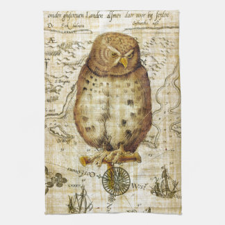 Vintage owl towel