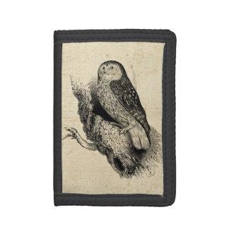 Vintage Owl Trifold Wallet
