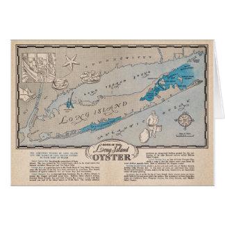 Vintage Oyster Map Postcard