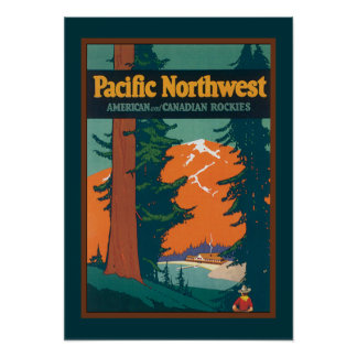 Vintage Pacific Northwest Poster