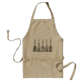 Vintage Paintbrushes on classic Apron