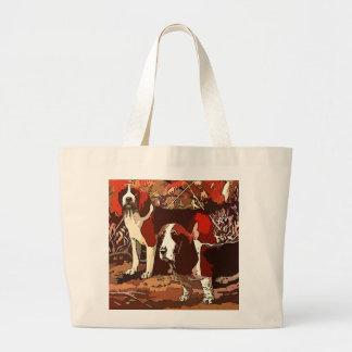 Vintage Painted Beagles Tote Bag