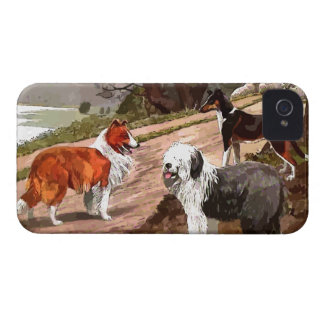 Vintage Painted Collies Blackberry Bold Case