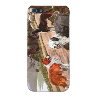 Vintage Painted Collies iPhone Case