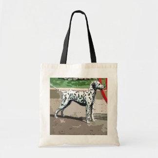 vintage painted dalmatian tote bag