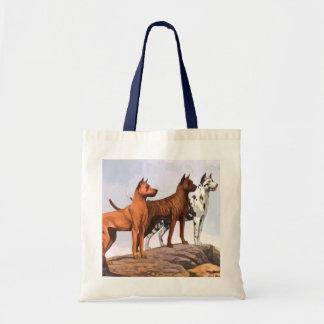 Vintage Painted Great Danes Tote Bag