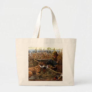 vintage painted retrievers with hunter tote bag