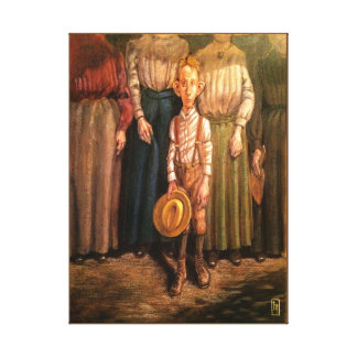 Vintage Painting Country Boy Art Print