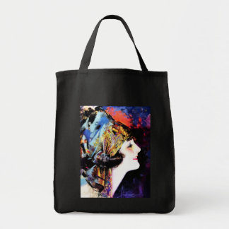 Vintage Painting, Martha Mansfield Grocery Tote Bag