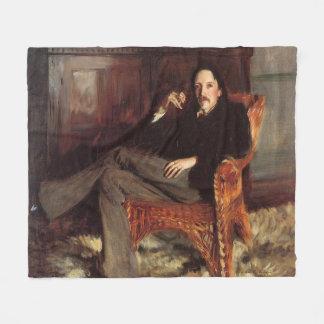 Vintage Painting of Robert Louis Stevenson (1887) Fleece Blanket