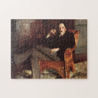 Vintage Painting of Robert Louis Stevenson (1887) Jigsaw Puzzle