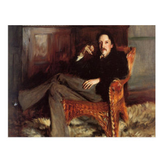 Vintage Painting of Robert Louis Stevenson (1887) Postcard