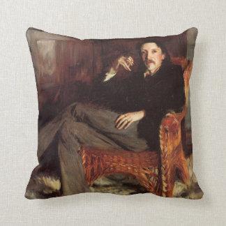 Vintage Painting of Robert Louis Stevenson (1887) Throw Pillow