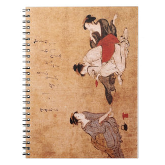 "Vintage Painting ""Three Drunken Women"" Notebook"