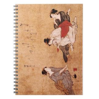 """Vintage Painting """"Three Drunken Women"""" Spiral Notebook"""