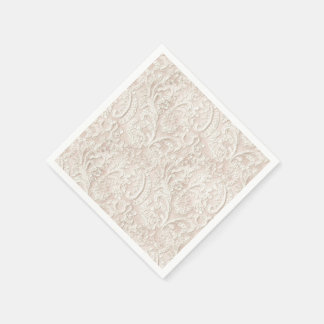 Vintage Pale Pink Lace Disposable Napkins