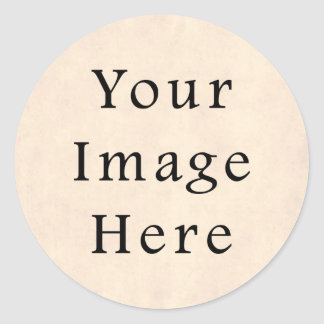 Vintage Pale Yellow Cream Parchment Paper Template Classic Round Sticker