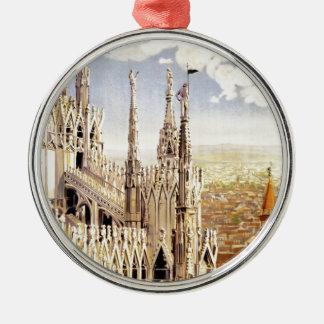 Vintage Palermo Travel Metal Ornament