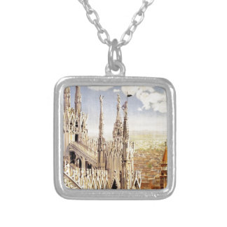 Vintage Palermo Travel Silver Plated Necklace