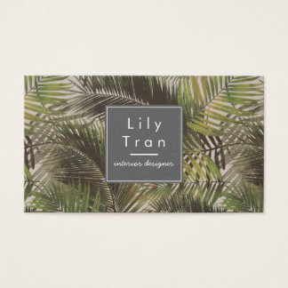 Vintage Palm Leaves Business Card