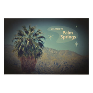 Vintage Palm Springs Wood Wall Art Print - 36 x 24