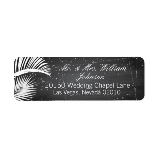 Vintage Palm Tree Beach Destination Wedding Labels