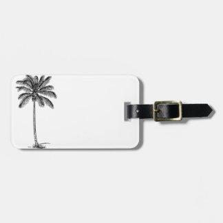 Vintage Palm Tree Luggage Tag