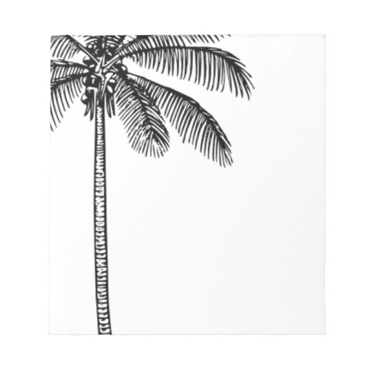 Vintage Palm Tree Notepad