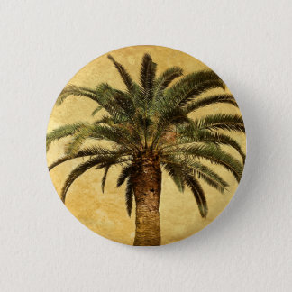 Vintage Palm Tree - Tropical Customized Template 2 Inch Round Button