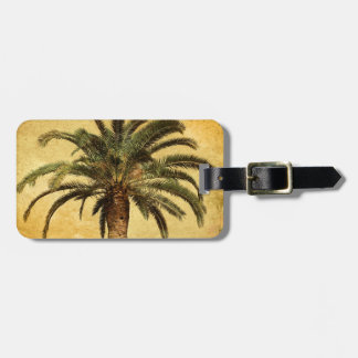 Vintage Palm Tree - Tropical Customized Template Luggage Tag