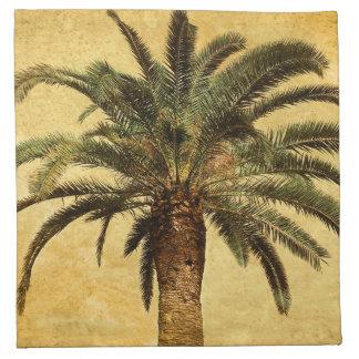 Vintage Palm Tree - Tropical Customized Template Napkin