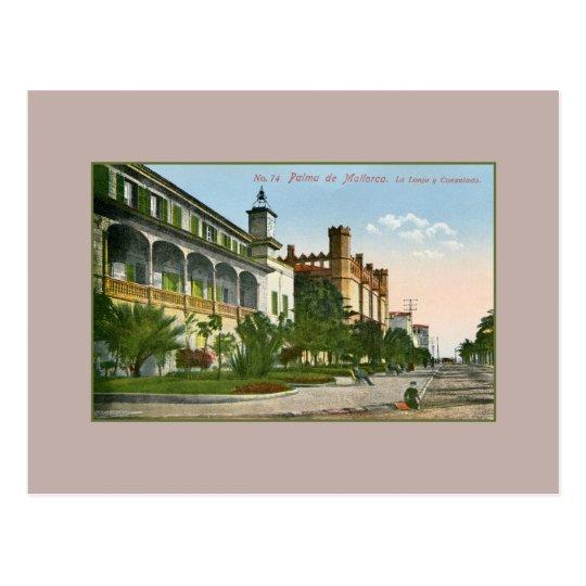 Vintage Palma De Mallorca La Lonja and consulate Postcard