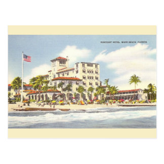 Vintage Pancoast Hotel Miami Beach Postcard
