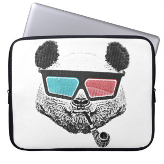 Vintage panda 3-D glasses Laptop Sleeve