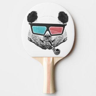 Vintage panda 3-D glasses Ping Pong Paddle