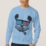 Vintage panda 3-D glasses Sweatshirt